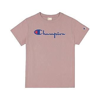 Champion Reverse Kudonta Script Logo Crewneck 110992PS007 universal ympäri vuoden naisten t-paita