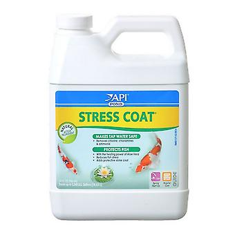 PondCare Stress Coat Plus Fish & Tap Water Conditioner for Ponds - 32 oz (Treats 3,840 Gallons)