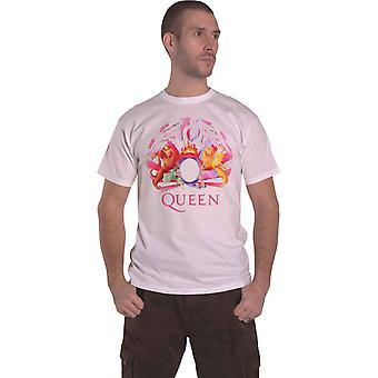 Queen T Shirt Night At The Opera Crest new Official Amplified Mens Vintage White