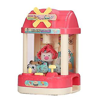 Portable electronic games claw machine game toy candy grabber prize dispenser toy with 6 plush