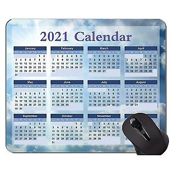 Keyboard mouse wrist rests 300x250x3 calendar 2021 2022 year with holidays non-skid natural rubber mouse pads blue sky themed