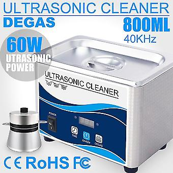Jewelry cleaning tools 800ml household digital ultrasonic cleaner 60w stainless steel bath 110v 220v degas ultrasound