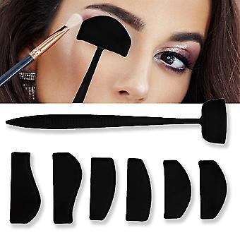 Caraele 6 In 1 Crease Line Kit Applicator Silicone Eyeshadow Stamp Crease Tool