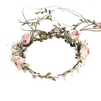Floral Flower Head Wreath Flower Crown Hair Wreaths Headband Bride Wedding Party Photographie