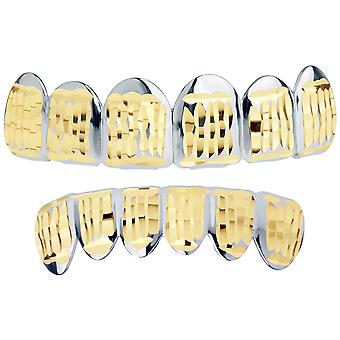 Silver Grillz - one size fits all - Diamond cut ONE - SET