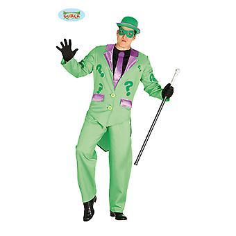 Mr. Inkognito grüner Mann Anzug mit Fragezeichen und Maske