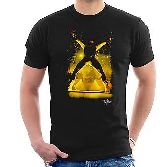Iron Maiden Bruce Dickinson Performing Men's T-Shirt