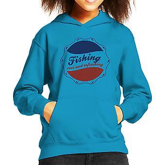 Camiseta de encapuchados pesca fresco y refrescante Pepsi Logo chico