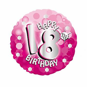 Amscan 18 Inch Pink Happy 18th Birthday Circular Foil Balloon