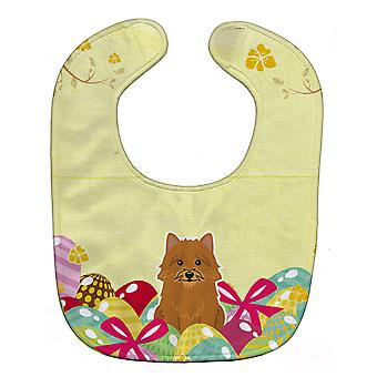 Carolines Treasures  BB6020BIB Easter Eggs Norwich Terrier Baby Bib