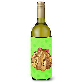 Sea Shell Green Polkadot Wine Bottle Beverge Insulator Hugger