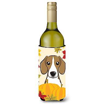Beagle Thanksgiving wijn fles drank isolator Hugger