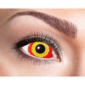 Sclera contact lenses damaged eye 22 mm