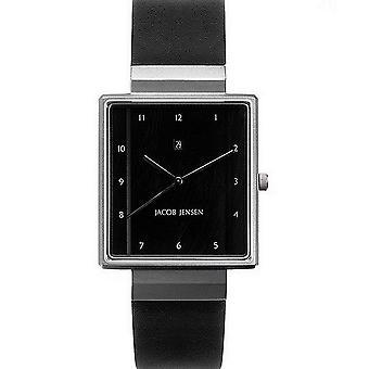 "Relógio Jacob Jensen ""Retangular"" mens watch 865"