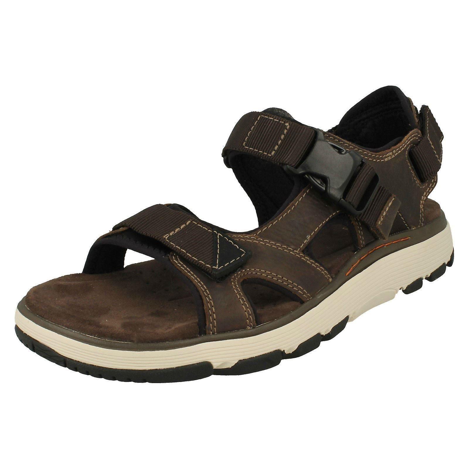 Discounter klassische Schuhe Online bestellen Herren Clarks geschnallt Sandalen Un Trek Bar - Olive Nubuk - UK 10,5 G -  EU Größe 45 - US Größe 11,5 M