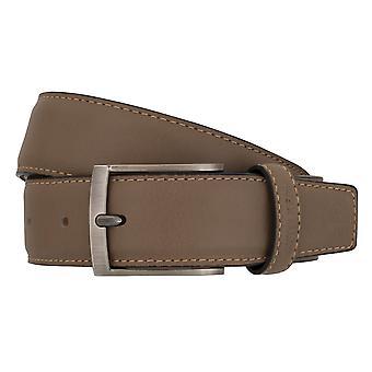 OTTO KERN belts men's belts leather belt Brown/taupe-7006