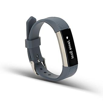 For Fitbit Alta HR plastic / silicone bracelet for women / size S dark grey watch