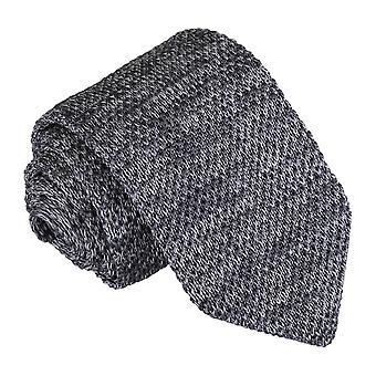 Grå Melange almindelig plettet strikkede slanke slips