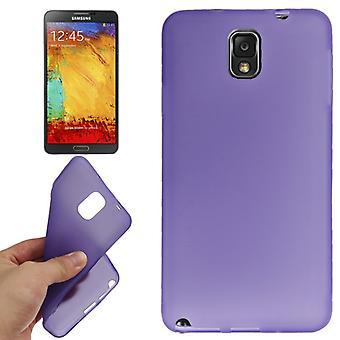 Housse Etui TPU pour contact Samsung Galaxy 3 / N9000 violet