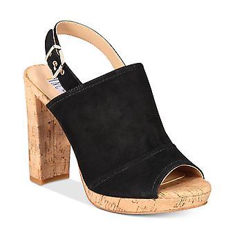 INC International Concepts Womens Tangia Leather Peep Toe Casual Platform San...