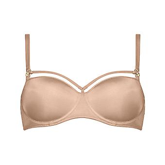 Marlies Dekkers 17150/171501 Women's Space Odyssey Glossy Camel Solid Colour Padded Underwired Balconette Balcony Bra