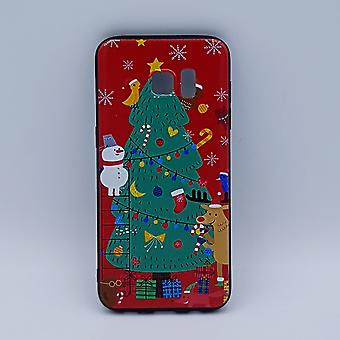 For Samsung S7 Edge pouch-Christmas-Christmas tree scene