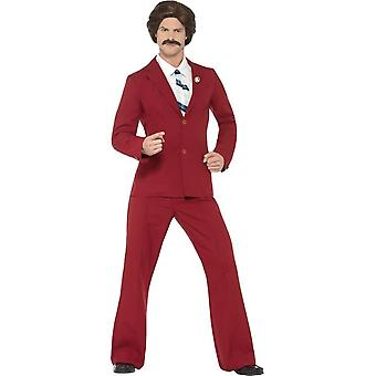 Anchorman Ron Burgundy Costume, Medium
