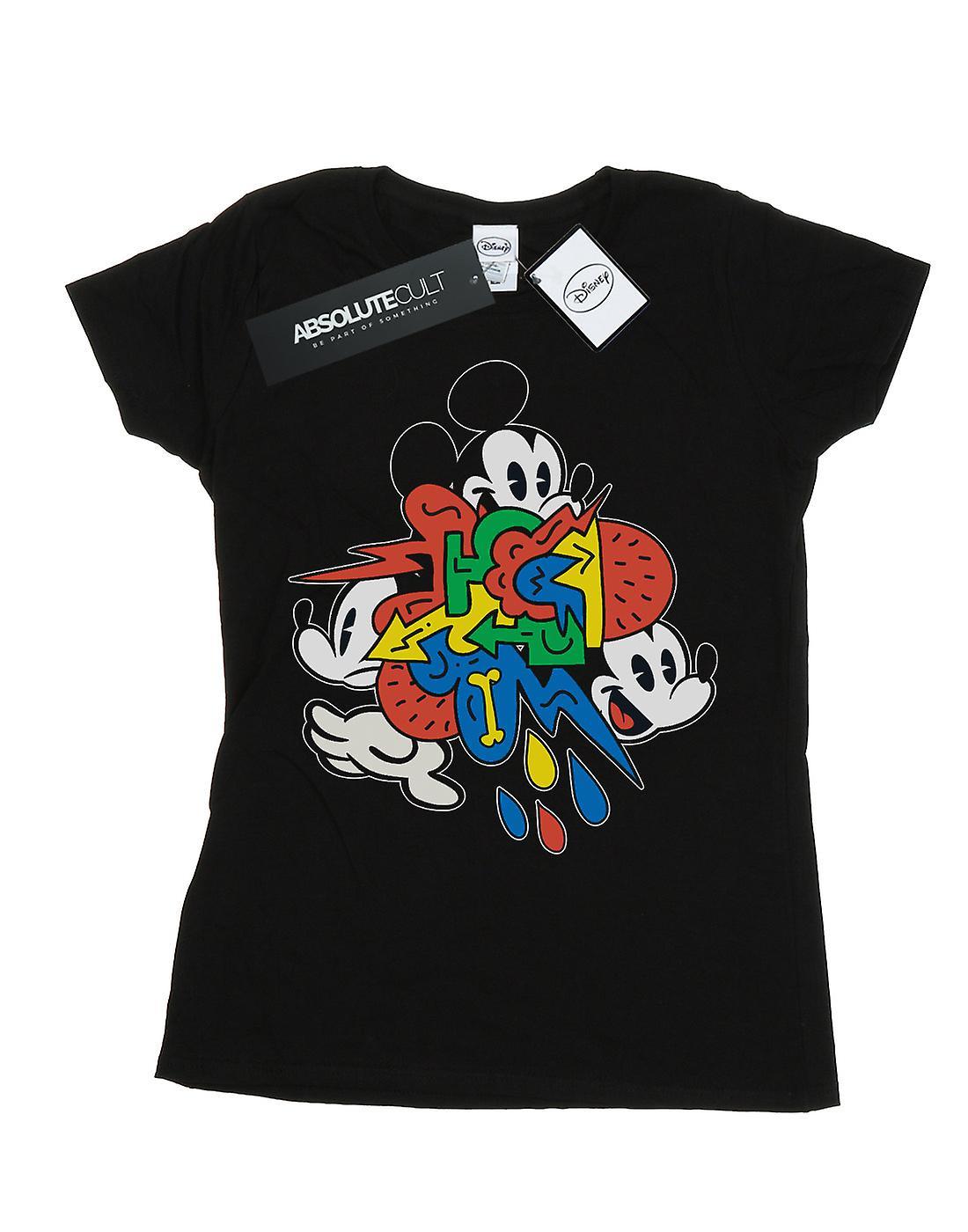 Disney Women's Mickey Mouse Vintage Arrows T-Shirt