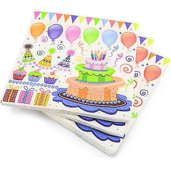 Pack of 20 Large Napkins 3ply Party Theme 33cm Square Disposable Party Accessory