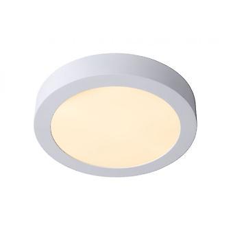 Lucide Brice-LED moderne Runde Aluminium weiß bündig Deckenleuchte