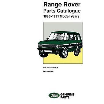 Range Rover Parts catalogus: Die betrekking hebben op voertuigen 1986/1991 mijn