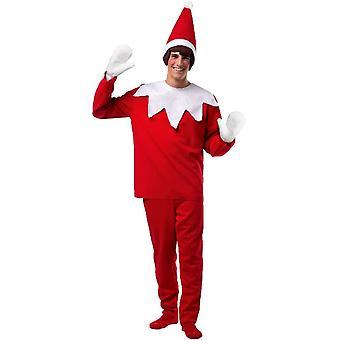 Red Elf Adult Costume