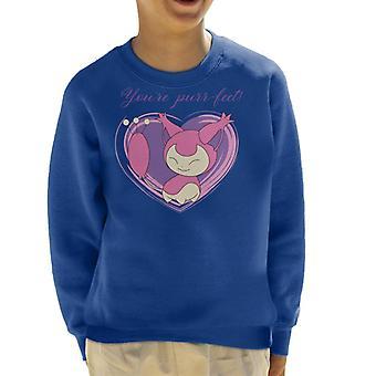 Sweatshirt d'amour de Pokemon Skitty Kid