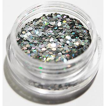 1pcs Hexagon Glitter Silver