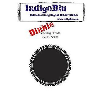 IndigoBlu Wedding Words Dinkie Mounted A7 Rubber Stamps (WW-D)