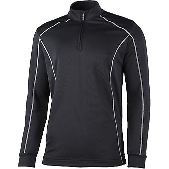 Rhino Mens Seville ¼ Zip Breathable Mid Layer Running Top