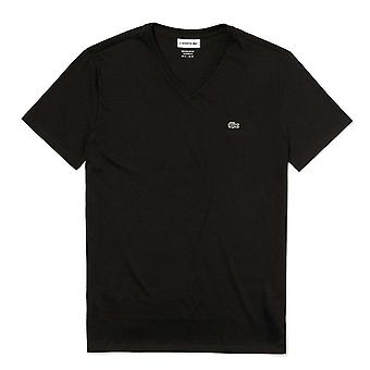 Lacoste Stropløs Pima bomuld Jersey T-shirt, sort, Small