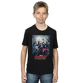 Marvel Studios Boys Avengers Age Of Ultron Poster T-Shirt