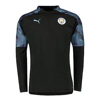 2019-2020 Manchester City Puma half zip training top (zwart)