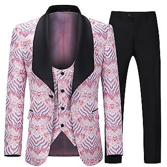 Alle Themen Herren Tuxedos 3-Pieces Anzüge Wolle Hochzeit Party Anzug Jacke&Pants&Vest