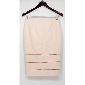 G.I.L.I. got it love it Skirt Pencil Style w/ Open Work Detail Pink A275548