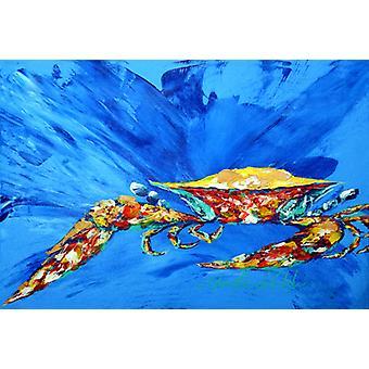 Carolines Treasures  MW1163PLMT Big Spash Crab in blue Fabric Placemat