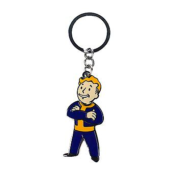 Fallout 76 Keyring Keychain Vauly Boy Movable Head new Official  Metal