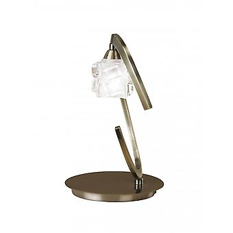 Mantra Ice Table Lamp 1 Light G9 ECO, Antique Brass