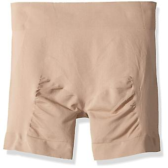 HUE Women's Size Made to Move Seamless Shaping Short (Plus), Ballet, XXL