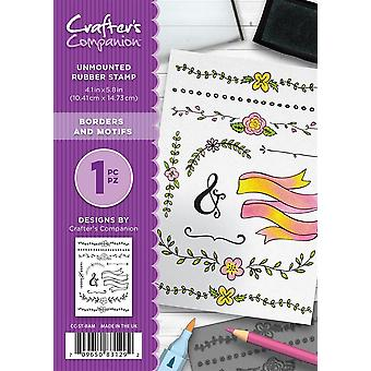 Crafter's Companion A6 Rubber Stamp Set - Borders and Motifs