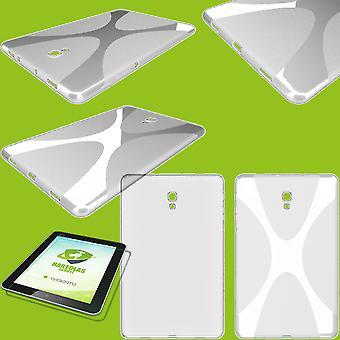 Silikon X-line veske Case transparent for Apple iPad 10,2 tommer 2019 syvende generasjon + herdet glass