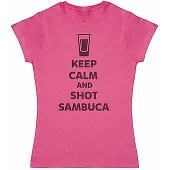 Keep Calm And Shot Sambuca - Womens T-Shirt