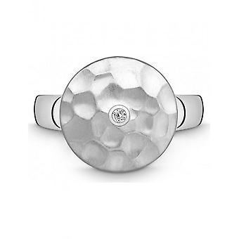 QUINN - Ring - Damen - Silber 925 - Wess. (H) / piqué - Weite 56 - 0211486