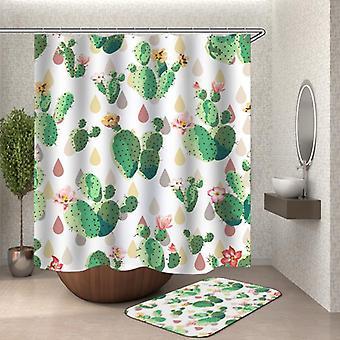 Flowery Cactus Shower Curtain